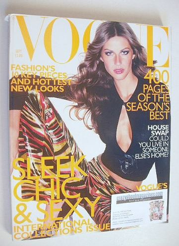<!--1999-09-->British Vogue magazine - September 1999 - Gisele Bundchen cov