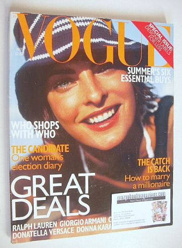 <!--1997-05-->British Vogue magazine - May 1997 - Linda Evangelista cover