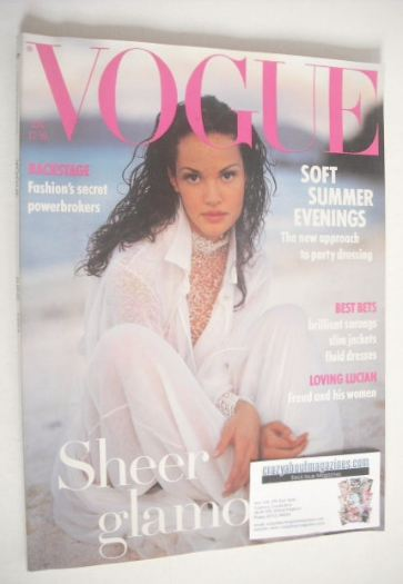 <!--1993-06-->British Vogue magazine - June 1993 - Claudia Mason cover