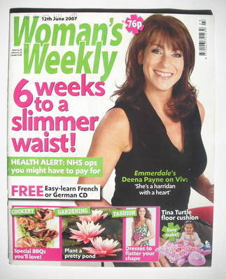 <!--2007-06-12-->Woman's Weekly magazine (12 June 2007 - Deena Payne cover)