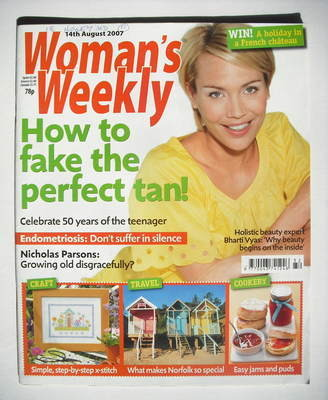 <!--2007-08-14-->Woman's Weekly magazine (14 August 2007 - British Edition)
