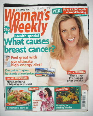 <!--2007-05-29-->Woman's Weekly magazine (29 May 2007 - Sally Gunnell cover