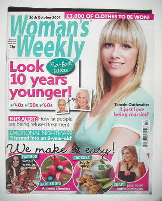 <!--2007-10-30-->Woman's Weekly magazine (30 October 2007 - British Edition