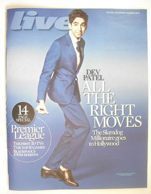 <!--2010-08-08-->Live magazine - Dev Patel cover (8 August 2010)