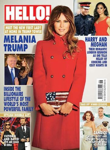 <!--2016-11-21-->Hello! magazine - Melania Trump cover (21 November 2016 -