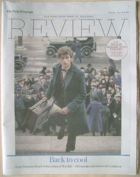 The Daily Telegraph Review newspaper supplement - 3 September 2016 - Eddie Redmayne cover