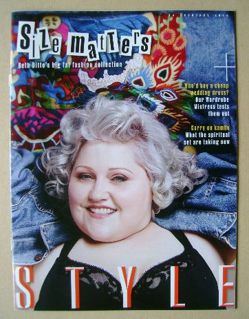 <!--2016-02-14-->Style magazine - Beth Ditto cover (14 February 2016)