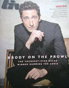 <!--2010-06-20-->Live magazine - Adrien Brody cover (20 June 2010)