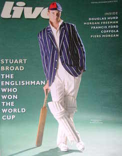 <!--2010-06-27-->Live magazine - Stuart Broad cover (27 June 2010)