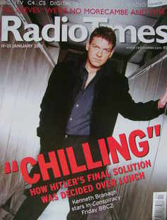 <!--2002-01-19-->Radio Times magazine - Kenneth Branagh cover (19-25 Januar