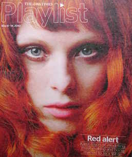 The Times Playlist magazine - 8 May 2010 - Karen Elson cover