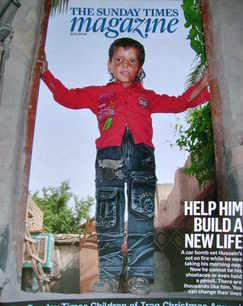 <!--2009-11-22-->The Sunday Times magazine - Help Him Build A New Life cove