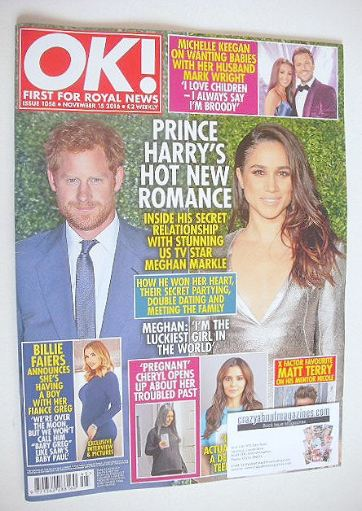 Ok Magazine Prince Harry And Meghan Markle Cover 15 November 2016 Issue 1058