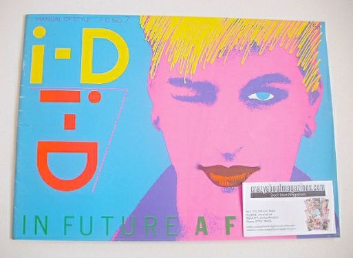 <!--1982-09-->i-D magazine - Kate cover (September 1982 - No 7)