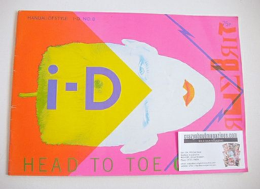 <!--1982-10-->i-D magazine - Scarlett Canon cover (October 1982 - No 8)