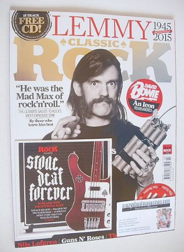 <!--2016-03-->Classic Rock magazine - March 2016 - Lemmy cover