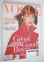 <!--1994-10-->British Vogue magazine - October 1994 - Linda Evangelista cover