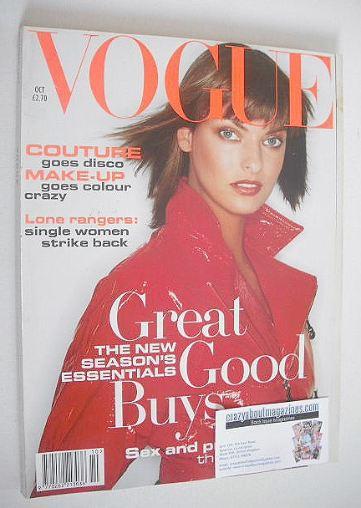 <!--1994-10-->British Vogue magazine - October 1994 - Linda Evangelista cov