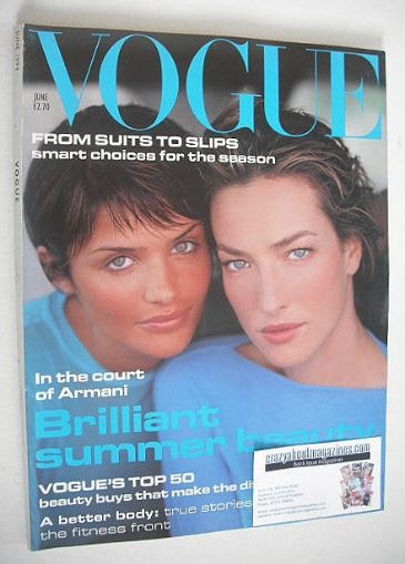 <!--1994-06-->British Vogue magazine - June 1994 - Helena Christensen and T