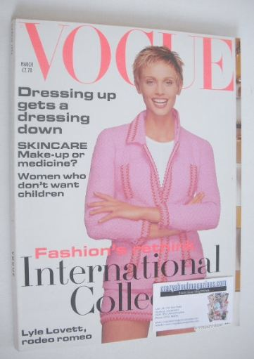 <!--1994-03-->British Vogue magazine - March 1994 - Beri Smither cover