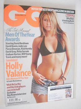 British GQ magazine - October 2002 - Holly Valance cover