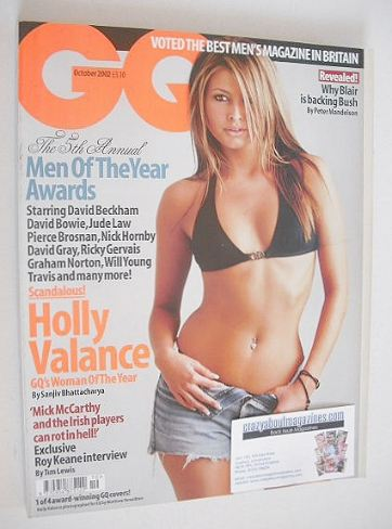 <!--2002-10-->British GQ magazine - October 2002 - Holly Valance cover