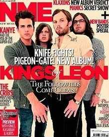<!--2010-08-21-->NME magazine - Kings of Leon cover (21 August 2010)