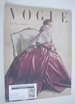 British Vogue magazine - January 1949 (Vintage Issue)