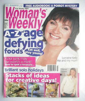 <!--2003-01-21-->Woman's Weekly magazine (21 January 2003 - Lorraine Kelly