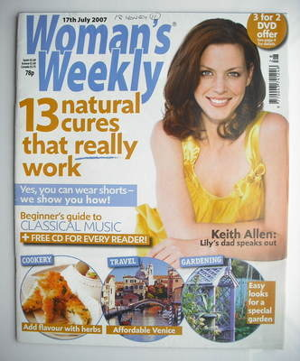 <!--2007-07-17-->Woman's Weekly magazine (17 July 2007 - British Edition)