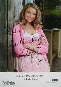 Kylie Babbington autograph (EastEnders actor)