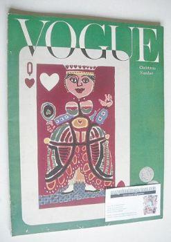 British Vogue magazine - December 1953 (Vintage Issue)