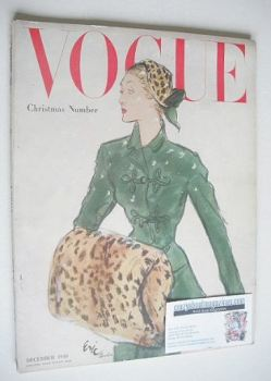 British Vogue magazine - December 1948 (Vintage Issue)
