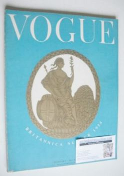 British Vogue magazine - February 1954 (Vintage Issue)