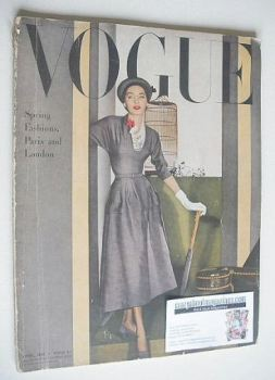 British Vogue magazine - April 1948 (Vintage Issue)