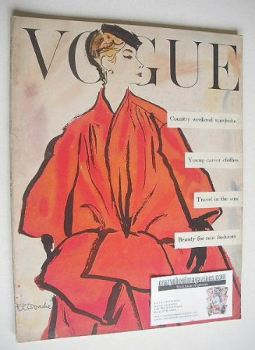 British Vogue magazine - January 1954 (Vintage Issue)