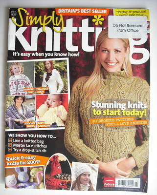 Simply Knitting magazine (Issue 24 - February 2007)