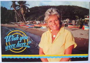 Judith Chalmers autograph (Wish You Were Here cast card)