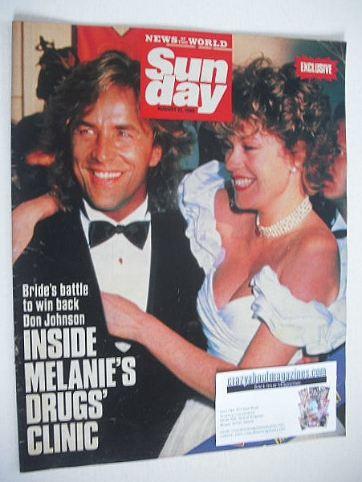 <!--1989-08-27-->Sunday magazine - 27 August 1989 - Don Johnson and Melanie