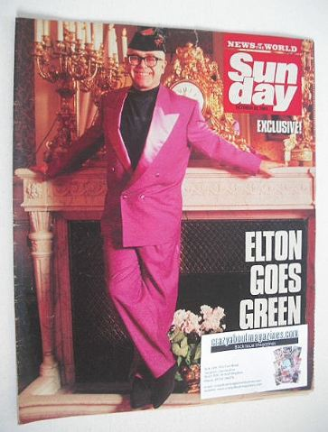 <!--1989-10-22-->Sunday magazine - 22 October 1989 - Elton John cover