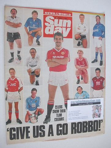 <!--1989-11-05-->Sunday magazine - 5 November 1989 - TV Soccer Fans cover
