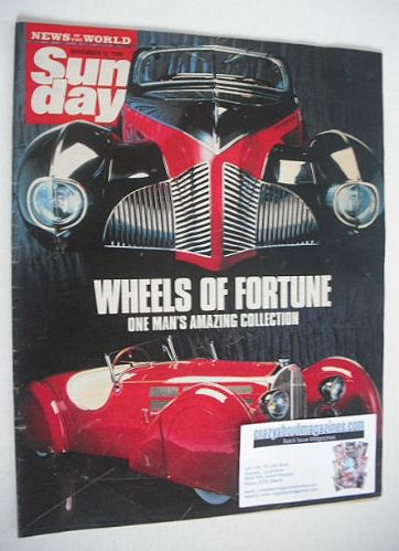 <!--1989-11-12-->Sunday magazine - 12 November 1989 - Wheels Of Fortune cov
