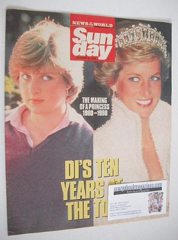 <!--1990-01-14-->Sunday magazine - 14 January 1990 - Princess Diana cover