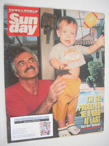 <!--1990-01-21-->Sunday magazine - 21 January 1990 - Burt Reynolds cover