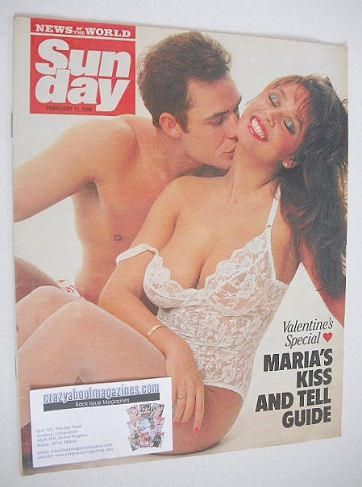 <!--1990-02-11-->Sunday magazine - 11 February 1990 - Maria Whittaker cover