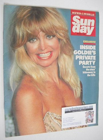 <!--1990-03-04-->Sunday magazine - 4 March 1990 - Goldie Hawn cover