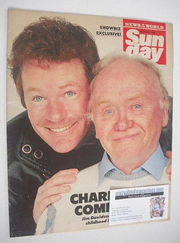 <!--1990-03-11-->Sunday magazine - 11 March 1990 - Jim Davidson and Charlie