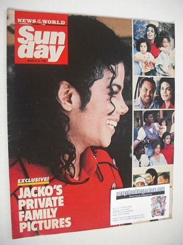 <!--1990-03-18-->Sunday magazine - 18 March 1990 - Michael Jackson cover