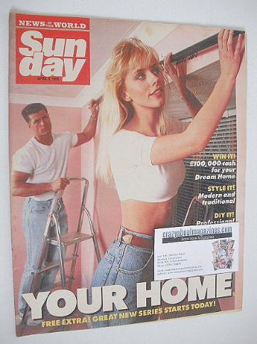 <!--1990-04-08-->Sunday magazine - 8 April 1990 - Your Home cover