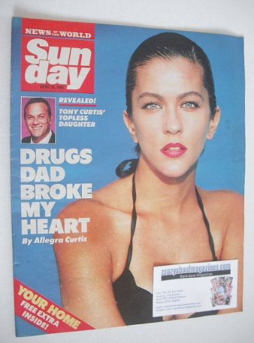<!--1990-04-15-->Sunday magazine - 15 April 1990 - Allegra Curtus cover